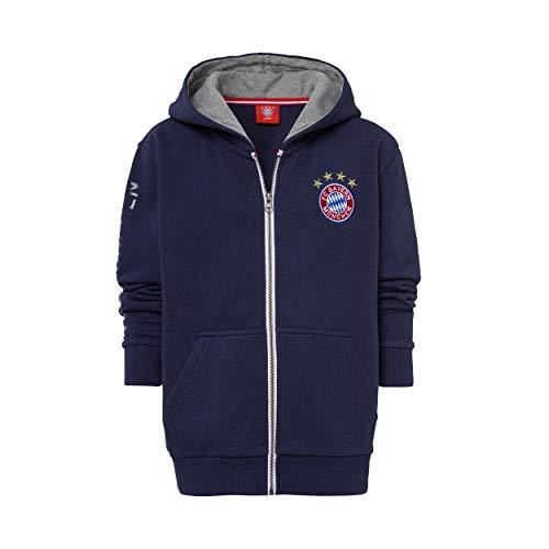 FC Bayern Múnich - Chaqueta con capucha y pegatina de Múnich Forever FCB, chaqueta (176, Navy)