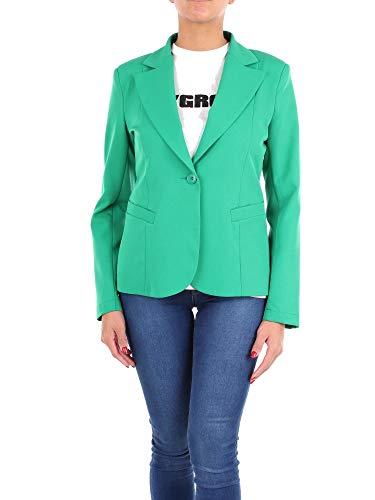 Luxury Fashion | Maryley Dames 9EB220GREEN Groen Elasthaan Blazers | Seizoen Outlet