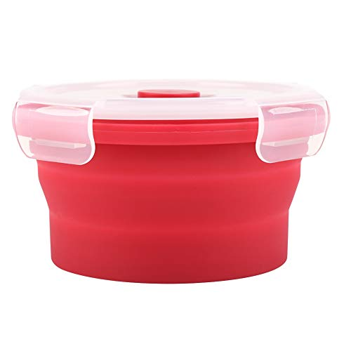 Contenitore per alimenti a microonde pieghevole pieghevole in silicone da 350 ml Bento Box per picnic in campeggio(Menta verde)