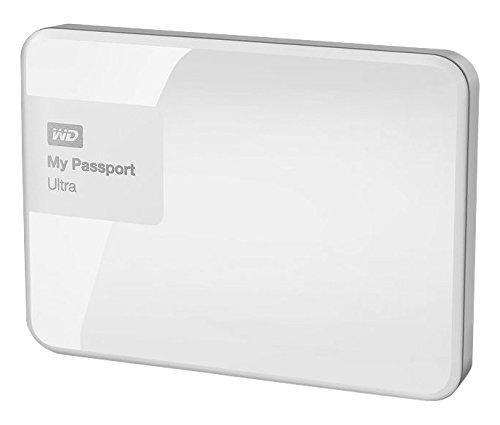WD My Passport Ultra Disque Dur Externe Portable 500 GB Blanc - USB 3.0 - WDBWWM5000AWT-EESN