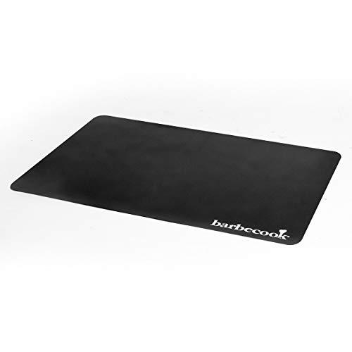 barbecook Bodenschutzmatte als Unterlage Fuer den Grill oder Feuerkorb, Outdoor Grillteppich als Schutz Fuer Terassen oder Balkon Boden aus Plastik in schwarz, 120x180 cm