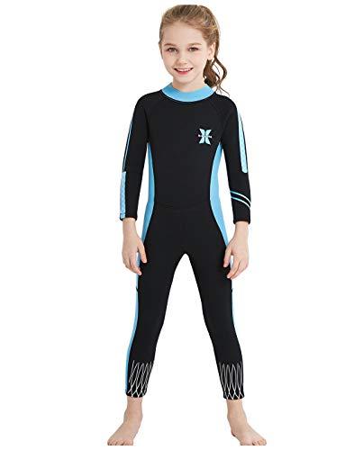 ウエットスーツ 子ども 2.5mm 一体式 ワンピース 女の子 フルスーツ スイムウェア キッズ用 日焼け防止 シュノーケリング サーフィンスーツ 海遊び カヌー・カヤック サーフィン