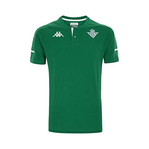 Kappa Angat 4 Betis Camiseta, Hombre, Verde/Blanco, L
