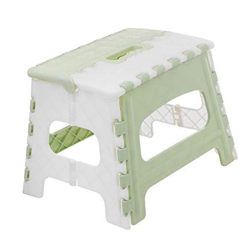 Amuzocity Escalera de Mano de Plástico Plegable con Asa Taburete de Pie Plegable Pequeño
