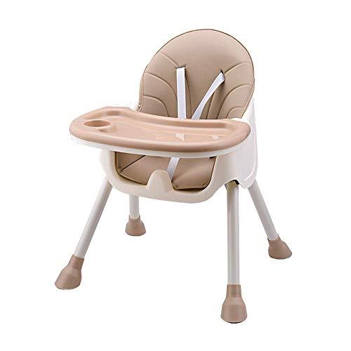 GDSKL Silla Taburete Plegable Asiento Taburete para Pies Banco, Mesa de Comedor para Niños Plegable Alta para Bebés Mesa de Comedor Portátil para Niños,Beige