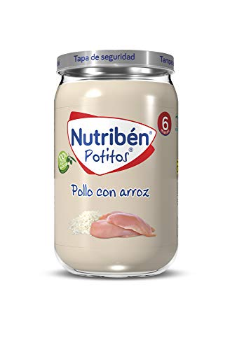 Nutribén Potitos de Pollo con Arroz, Desde Los 6 Meses, 235g