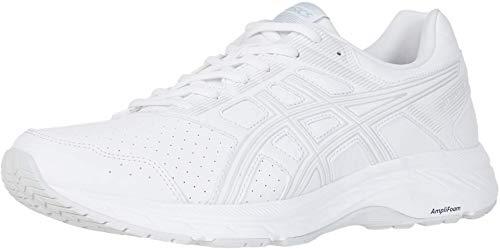 ASICS Men's Gel-Contend 5 SL Walker Shoes, 10M, White/Glacier Grey