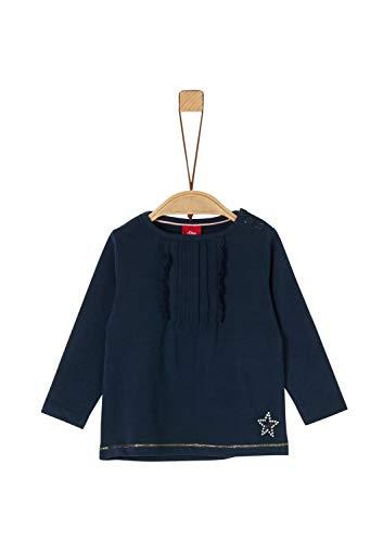 s.Oliver Baby-Mädchen 65.911.31.7729 Langarmshirt, Blau (Dark Blue 5952), (Herstellergröße: 74)