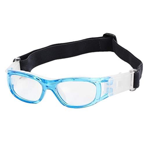 Lzdingli Sport-Zubehör Kinder Basketball Fußball Sportbrillen Brillen Dauerhaft Objektiv Schutzbrille für Outdoor-Enthusiasten (Color : Blau)