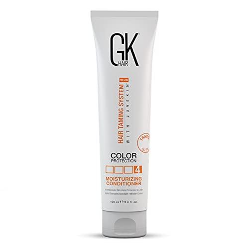 Global Keratin GK Hair Acondicionador Hidratante para Cabello 100ml Para Daños Secos Tratados con Color Rizado Encrespado Orgánico Sin sulfato de parabenos Uso diario Limpieza de hebras normales