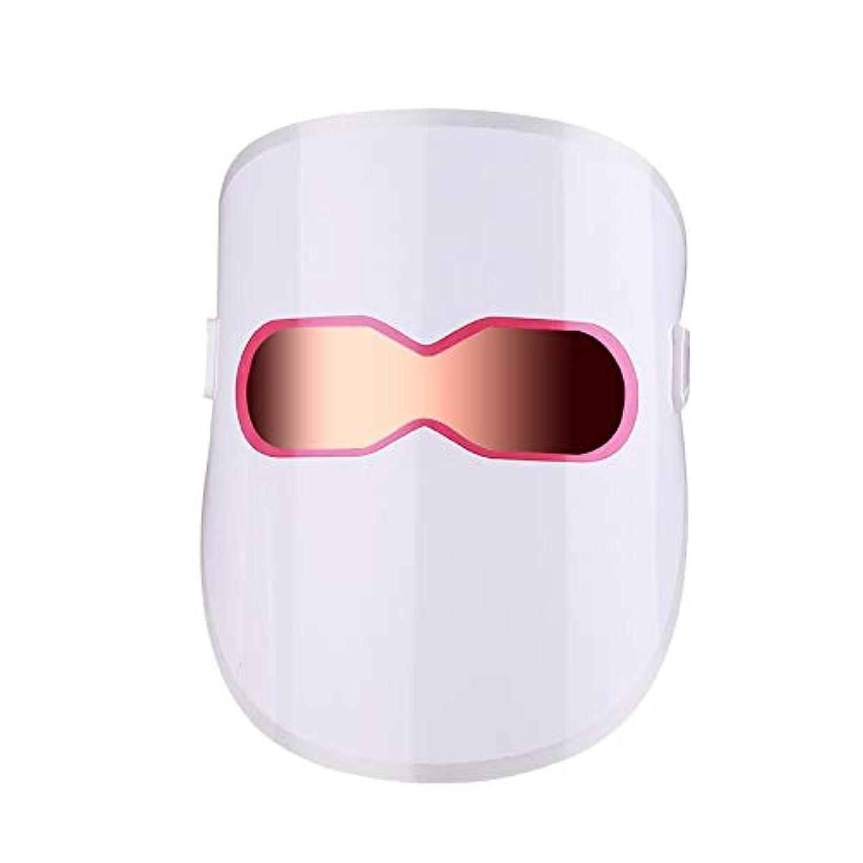 教師の日アフリカ人ハンディ3色LEDマスクゴールドLEDライトセラピートリートメントフェイシャルビューティースキンケアフォトンセラピーマスクにきびしわホワイトニング