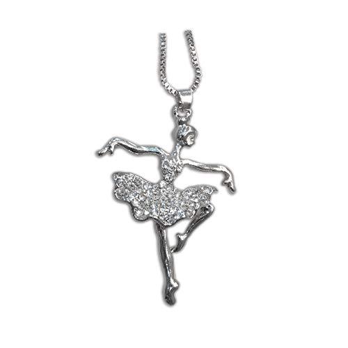 Silver Plated Dancing Ballerina Necklace Dancer Ballet Chain For Women Friend Girlfriend Love Charm