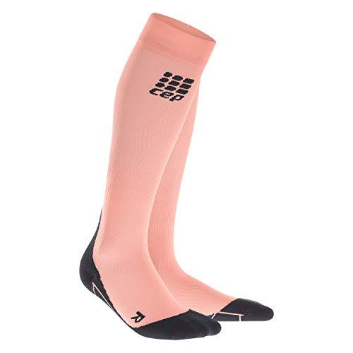 CEP - Compression Socks für Damen | Knielange Sportsocken mit Kompression in orange | Größe II
