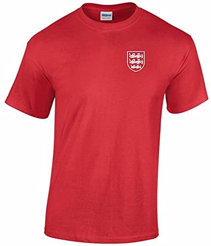 Camiseta de fútbol Inglaterra para hombre, color rojo, rosso, M