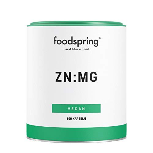 foodspring ZN:MG Kapseln, 100 Stück, Vegan Zink Magnesium Supplement für deine Bestleistung