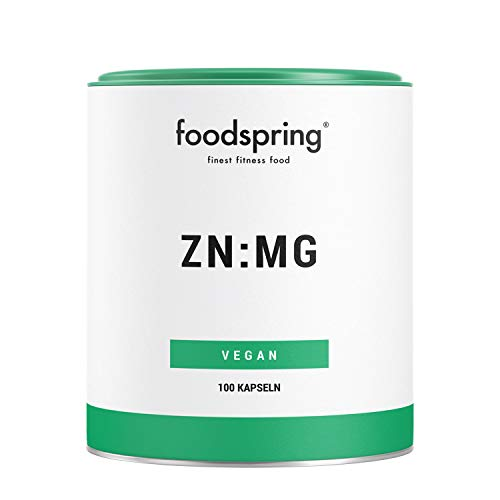 foodspring ZN:MG Kapseln, 100 Stück, Zink Magnesium Supplement für deine Bestleistung, Vegan, Hergestellt in Deutschland