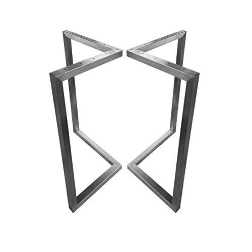 CHYRKA V-Tischkufe Edelstahl 201 30x30 Tischgestell Rahmentisch Kufengestell Tischuntergestell (720x400 mm - 1 Paar)