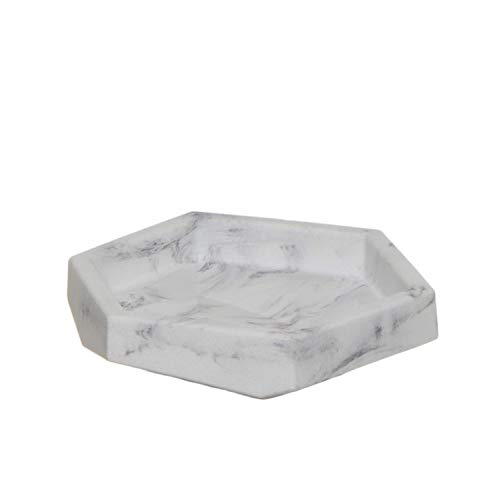 Vidal Regalos Portasapone in resina effetto marmo 12 cm bianco