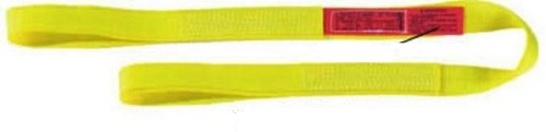 ASC Light Nylon Web Sling Eye-and-Eye All items free shipping Oakland Mall Ply 2 8' Length Yellow