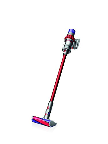 Dyson Cyclone V10 Fluffy sans sac 0.54L Nickel, rouge – Aspirateur balai sans sac, nickel, rouge, 0,54 L, étage, Cyclone,...