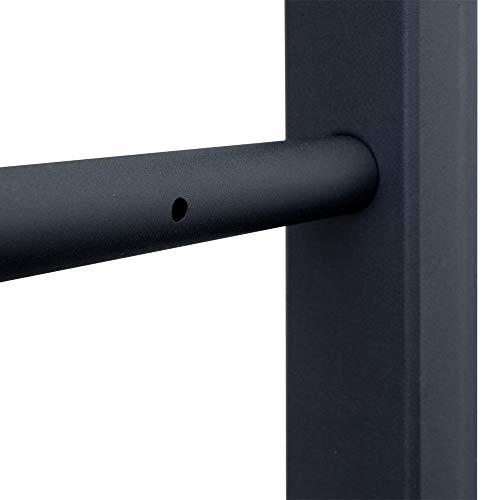 V2Aox Briefkasten Standfuß Briefkastenständer Ständfüße Ständer Freistehend Schwarz 1 Fuß - 2