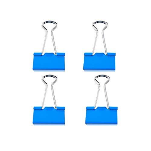 SGMYMX Clip de Dogo Clips de Metal for encuadernación con Grapas, for el Cierre de Bolsas de plástico Oficina de Archivo Fijo organizar 19mm, 25mm, 32mm Clip de Papel (Color : 25mm*32pcs)