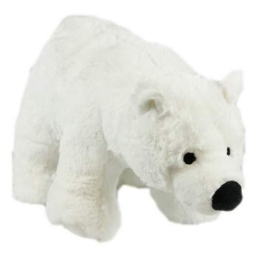 Animal Instincts Snow Mates Perdita Oso Polar, chirriante Suave Peluche Masticar compañero Perro Juguete - pequeño