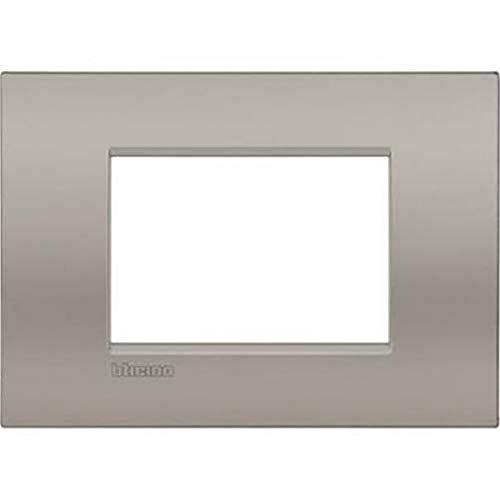 Bticino LNC4803SB Placca Livinglight Air 3 Moduli, Sabbia