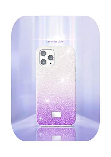 Adecuado para Iphone12 Series Star Diamond resistente a las roturas, todo incluido funda protectora Swarovski modelos femeninos, color lavanda púrpura iPhone 7P