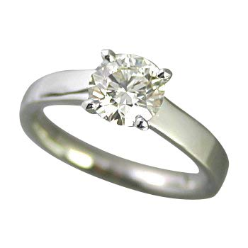 婚約指輪 ケース付 ダイヤモンド プラチナ 1カラット 鑑定書付 1.002ct Eカラー VVS1クラス EXカット CGL サイズ8号