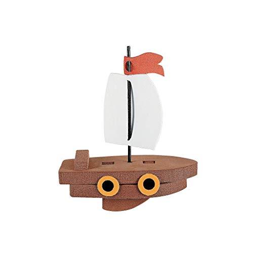 Elfen und Zwerge - Schiff - Segelboot - Bauset - Wasserspielzeug für Kinder - Piratenschiff - aus Moosgummi - 6 Stück