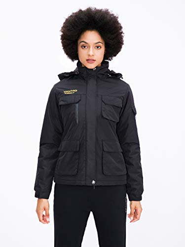 Women's Mountain Waterproof Ski Jacket Windproof Rain Snowboarding Jackets Winter Fleece Warm Snow Hooded Coat