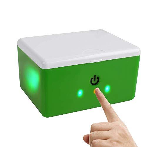 WJYAN Hörgerätetrockner,Hearing Aid Case Automatischer und elektronischer Cochlear-Trockner UV-C Desinfektions- und Reinigungsbehälter für Hörverstärker