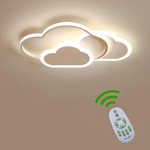 42W LED Deckenleuchte, Creative Cloud Deckenleuchte, Dimmbar Fernbedienung 3000K~6000K, 6cm Ultradünne Weiße Wolken Decken Lampe, Für Kinderzimmer Schlafzimmer Und Wohnzimmer [Energieklasse A ++]