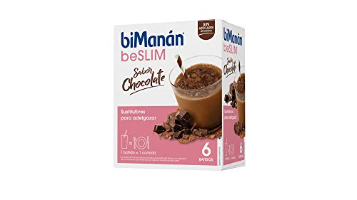 biManán - beSLIM - Sustitutivos para Adelgazar - Batido Chocolate - 6uds 300 gr