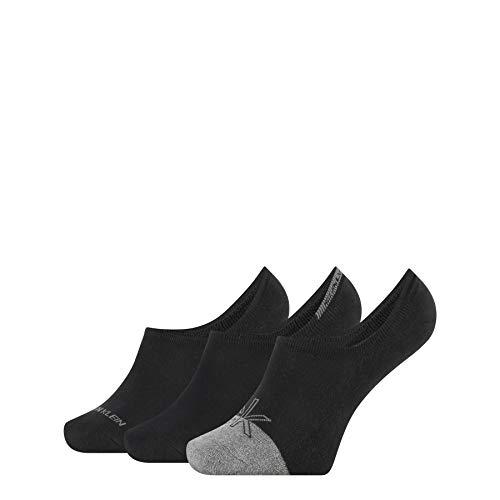 Calvin Klein Socks Mens Iconic Logo Men's Liner (3 Pack) Socks, Black Combo, ONE Size