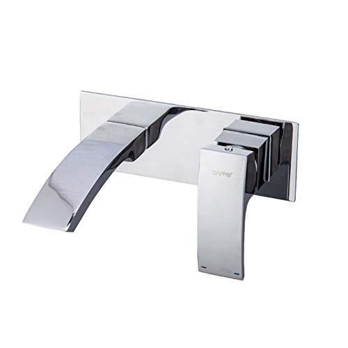 5151BuyWorld waterkraan, voor spoelbak, badkamer, gemonteerd, voor wandbekken, waterval, wastafel, armatuur, douche, armatuur, sanitair, G1007-2