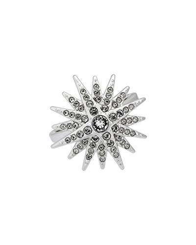 Swarovski 5079319 Balthus - Anillo de Estrella con Cristales Transparentes chapados en rodio – SIZE 55