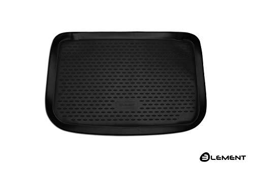 Element EXP.ELEMENT4145B10 Passgenaue Premium Antirutsch Gummi Kofferraumwanne - Renault Clio 4 - Jahr: 12-20, schwarz, Passform