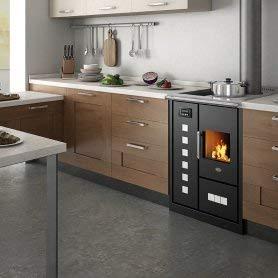 Eva Calòr Roberta - Estufa con cocina de leña: color marfil, Eva calor ACS - ACS integrado