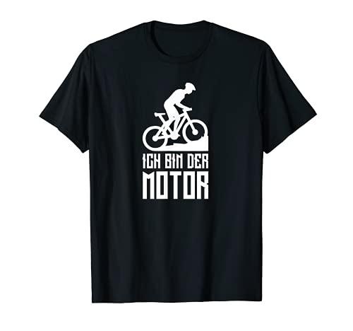 """Bicicleta de montaña MTB BMX montaña montaña con texto en alemán """"Ich bin der Motor"""" Camiseta"""