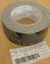 A. Blöchel 1 Rollo de Cinta Adhesiva de Tela del ejército, Camuflaje, 50 mm x 25 m