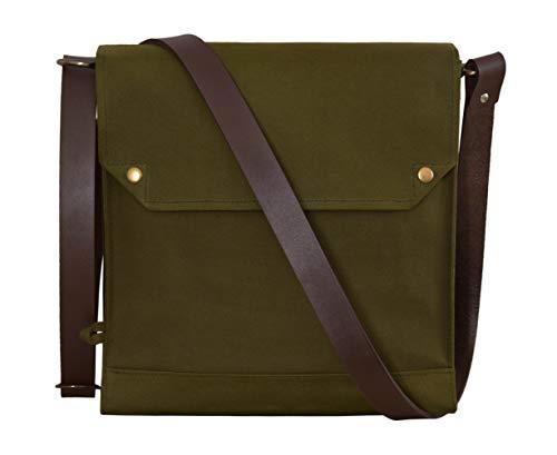Indiana Jones Bag Mk VII Leather Strap WWII Gas Mask Bag Satchel Reproduction Classic Indy Bag Olive Green