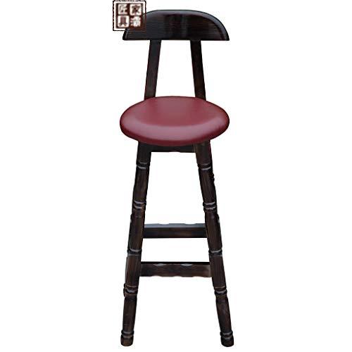 XIANWEI Barhocker, Barhocker Thekenstuhl Küche Frühstücksstuhl Massivholzhochstuhl Heimtextilien Lounge Chair
