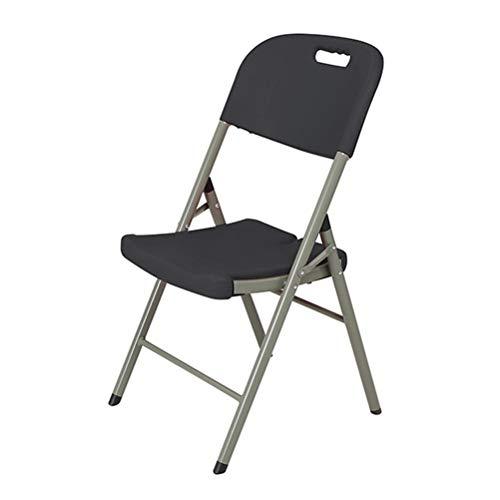 YPEZ Durable Einzel Chair (Party-Ereignis High Load Design-Klappstuhl), bequemen Sessel for Besprechungszimmer, Parties, Kaffeehäuser, Restaurants Schwarz (Größe : 1 Pack)