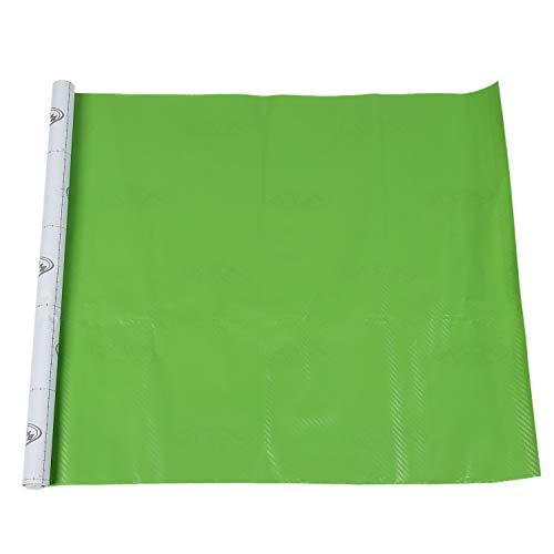 Gesh Rollo de vinilo de fibra de carbono 3D para coche, 50 x 127 cm, color verde