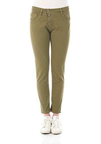 Please Damen Jeans P78A-LAV275214 - Boyfriend - Grün - Hulk XXS XS S M L XL 98% Baumwolle Stretchjeans Damenjeans, Größe:M, Farbvariante:Hulk (3726)