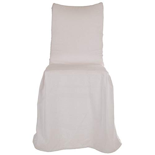 Blanc Mariclo Funda para silla con respaldo y falda blanca 40 x 40 x 98 cm A2514999BI