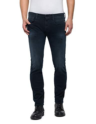 Replay Herren Anbass Slim Jeans, Blau (Dark Blue 7), W32/L30 (Herstellergröße: 32)