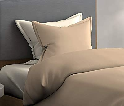 Dreamline Solid Brown Single Bedsheet with 1 Pillow Cover Set (1010)